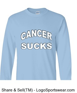 Cancer Sucks 100% Heavyweight Ultra Cotton Long Sleeve Adult T-Shirt Design Zoom
