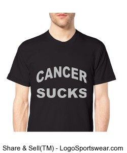 Cancer Sucks American Apparel Organic Cotton T-Shirt Design Zoom